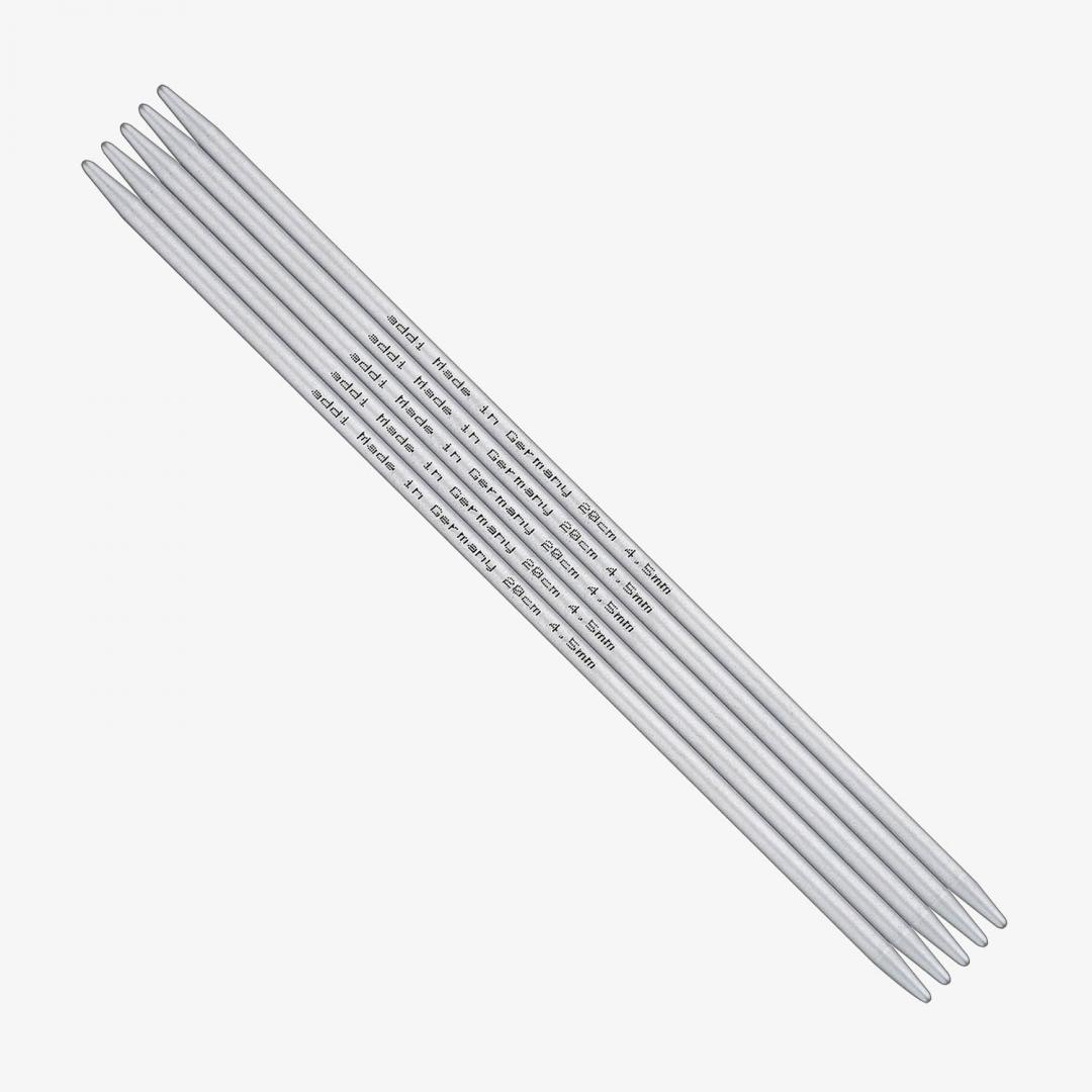 Addi Strumpfstricknadeln 201-7 Aluminium 4,5mm-20cm