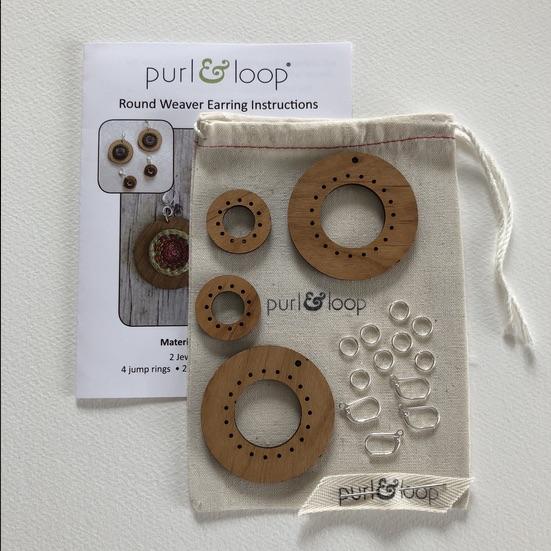 Purl & Loop Round Weaver Earring Kit 2,5cm M