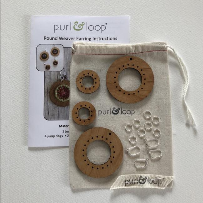 Purl & Loop Round Weaver Earring Kit Combo  Combo