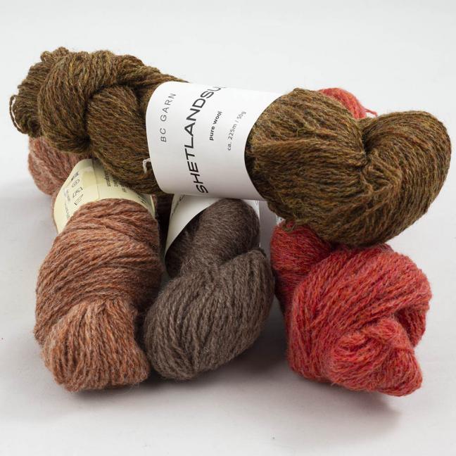 BC Garn Shetland Wool Restepaket 200g Chestnut