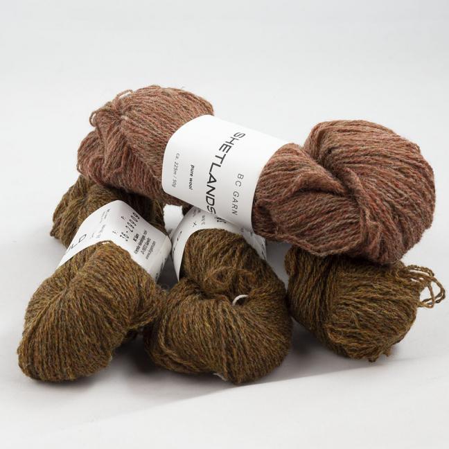 BC Garn Shetland Wool Restepaket 200g Eiche