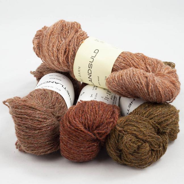 BC Garn Shetland Wool Restepaket 200g Kupfer