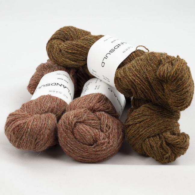 BC Garn Shetland Wool Restepaket 200g Messing