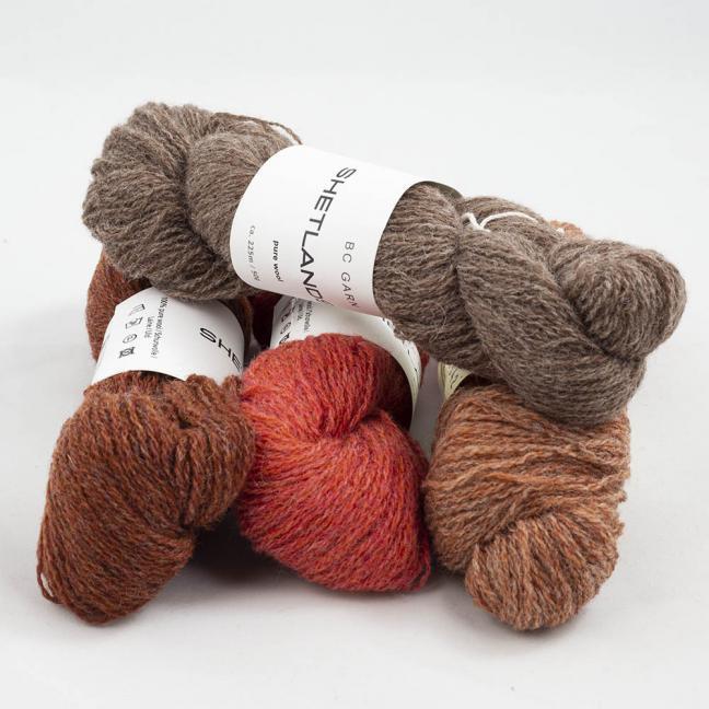 BC Garn Shetland Wool Restepaket 200g Rost