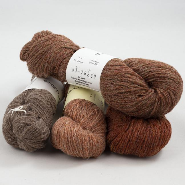 BC Garn Shetland Wool Restepaket 200g Rusty
