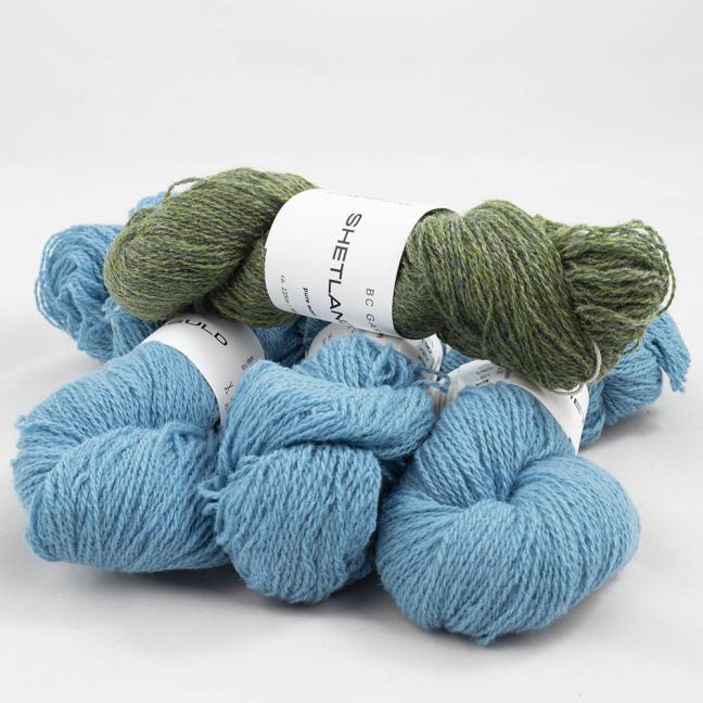 BC Garn Shetland Wool Restepaket 200g Sommerhimmel