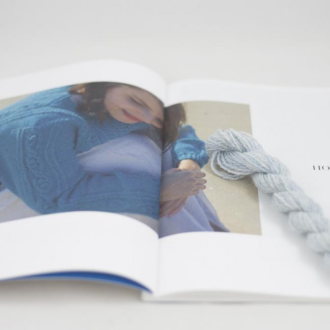 BC Garn AH Kit Hockney Cardigan Size L Ice Blue