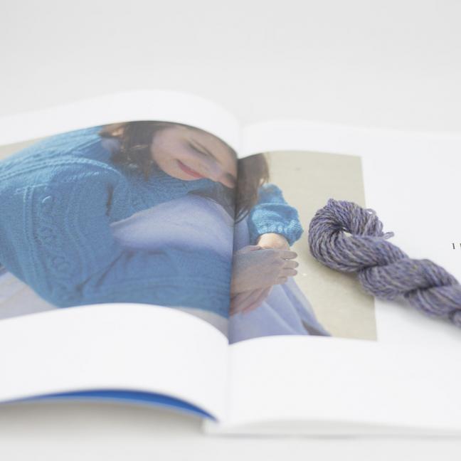 BC Garn AH Kit Hockney Cardigan Size L Light Purple