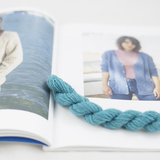 BC Garn AH Kit Kent Cardigan size 1 Turquoise