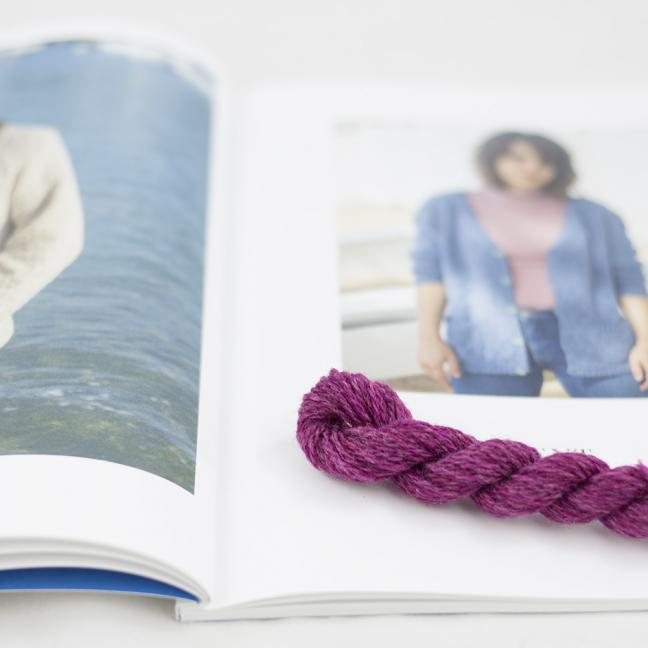 BC Garn AH Kit Kent Cardigan size 1 Cyclam