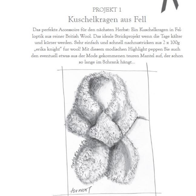 Erika Knight Gedruckte Anleitungen Fur Wool 1 Kuschelkragen Deutsch Fur Wool