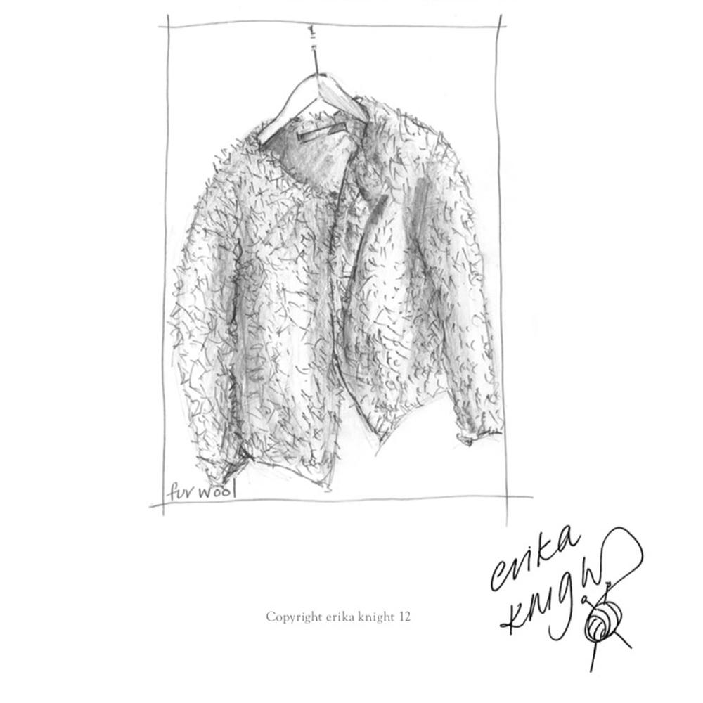 Erika Knight Gedruckte Anleitungen Fur Wool Fur Jacket Englisch Fur Wool