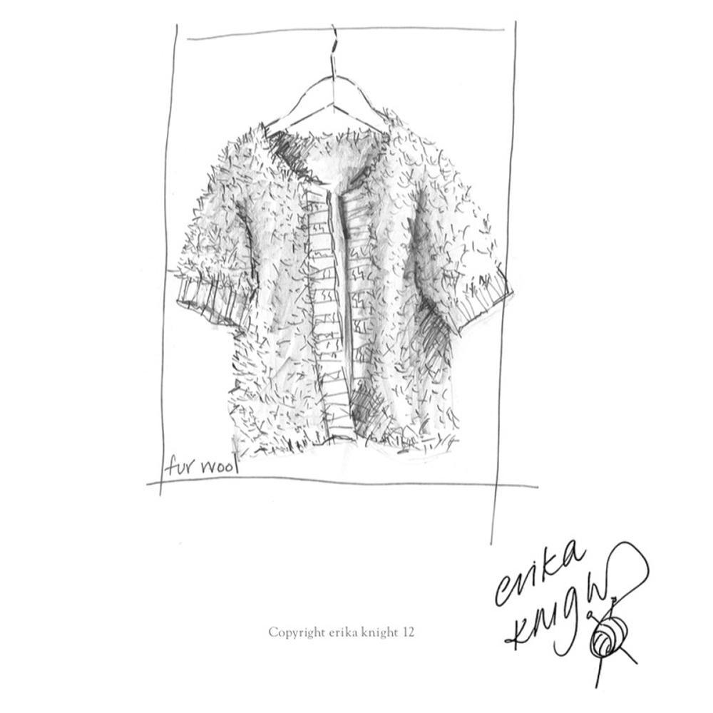 Erika Knight Gedruckte Anleitungen Fur Wool Rib Edge Fur Jacket Englisch Fur Wool