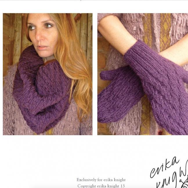 Erika Knight Einzelanleitungen/Patterns Vintage Wool und Fur Wool 16 Loop und Handschuhe Deutsch Vintage Wool