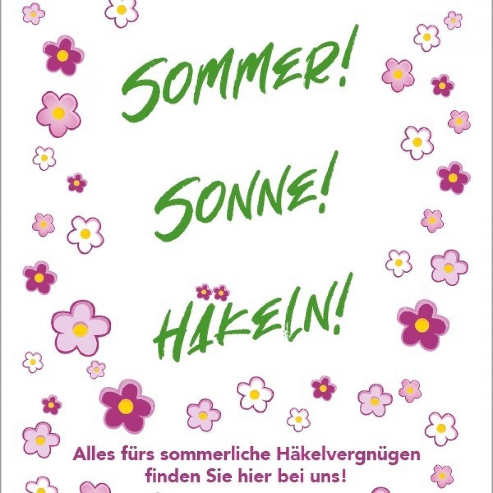 Poster Sommer Sonne Häkeln