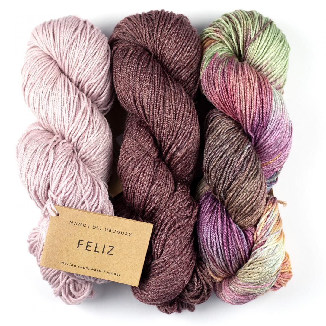 Manos del Uruguay Feliz Handgefärbt 100g  Natural