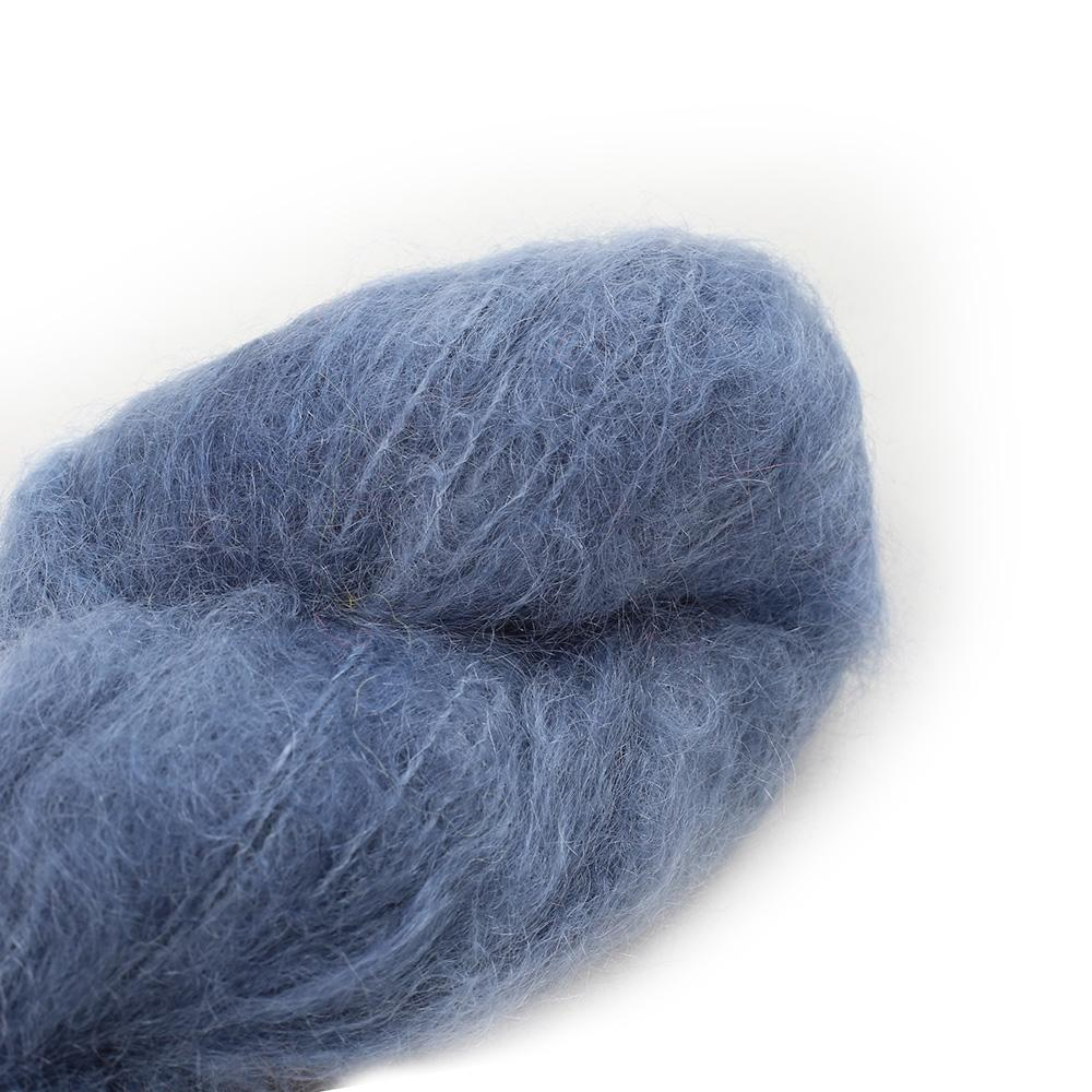 Cowgirl Blues Fluffy Mohair solids (100g) 01-Airforce