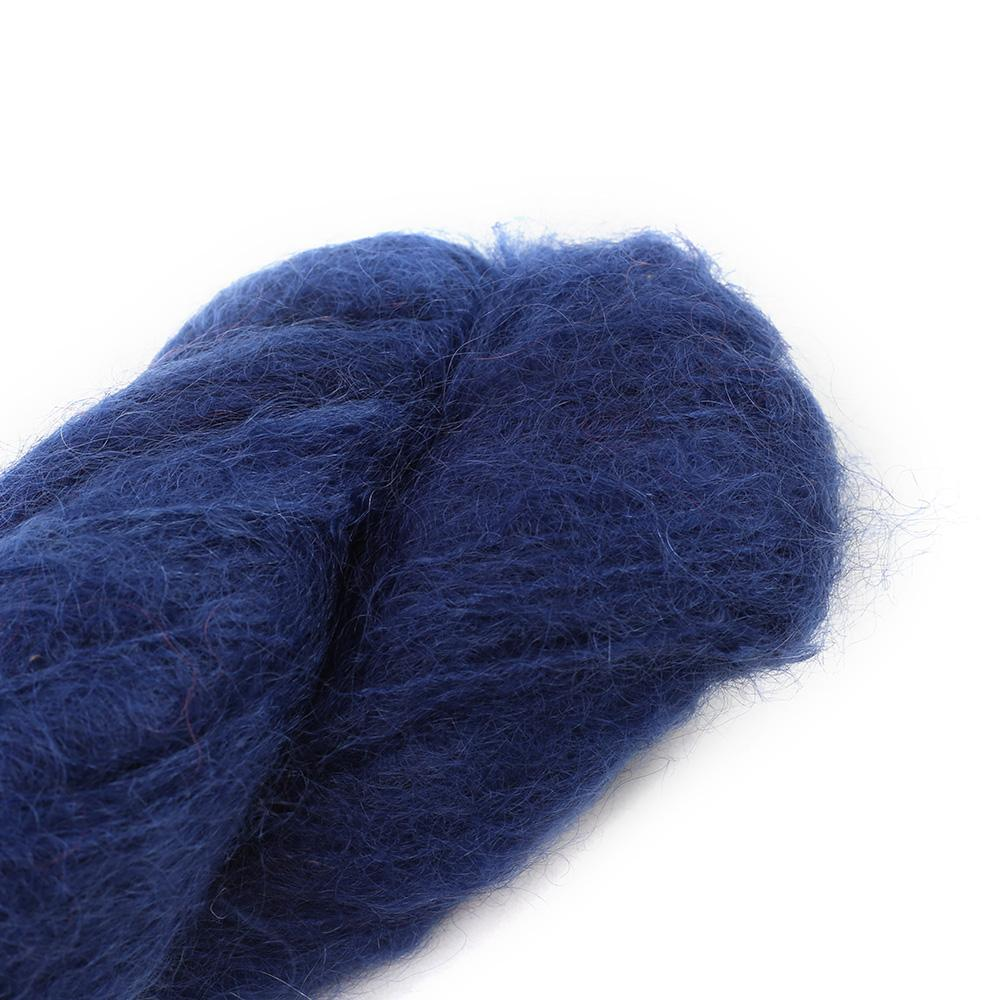 Cowgirl Blues Fluffy Mohair solids (100g) 36-Indigo