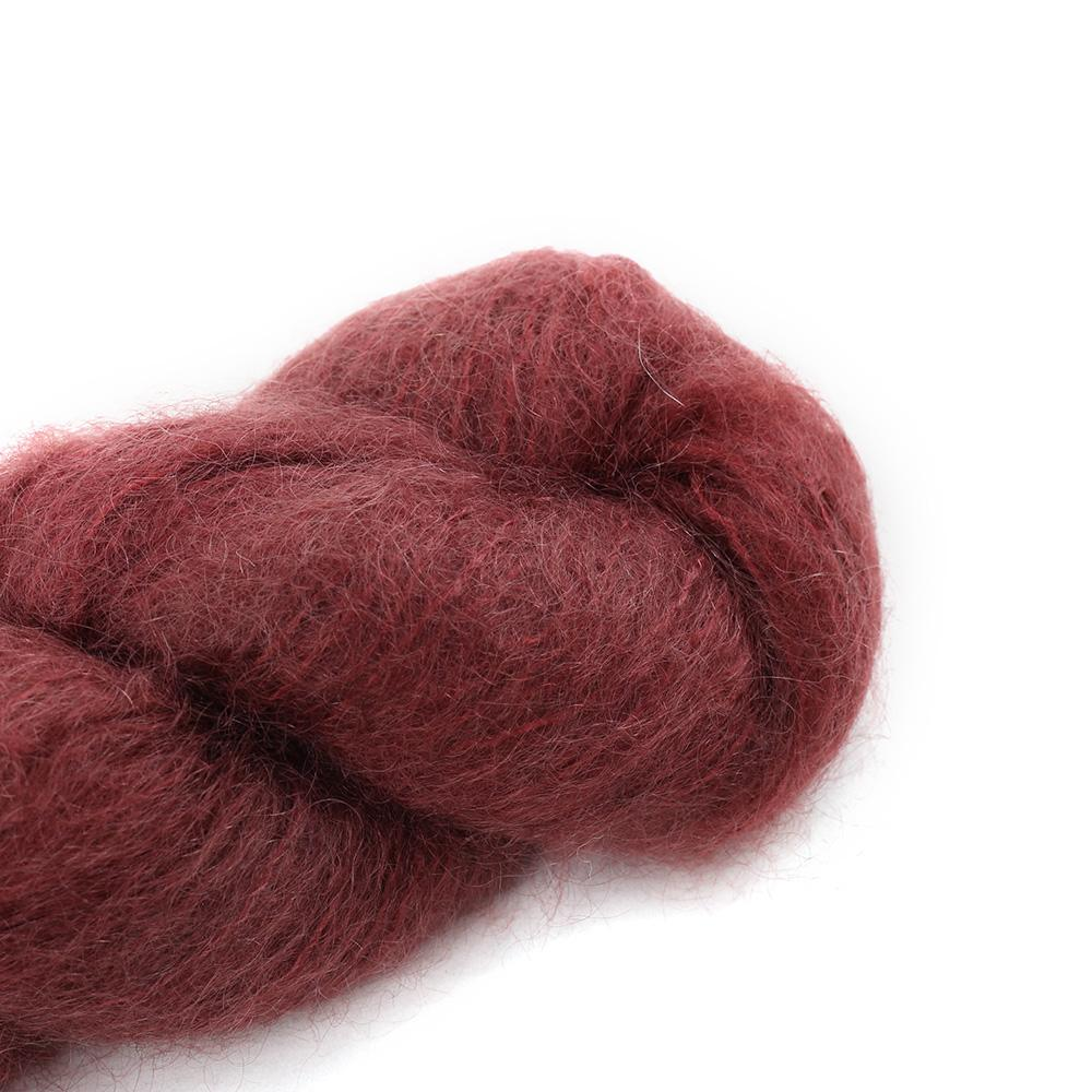 Cowgirl Blues Fluffy Mohair solids (100g) 26-Marsala