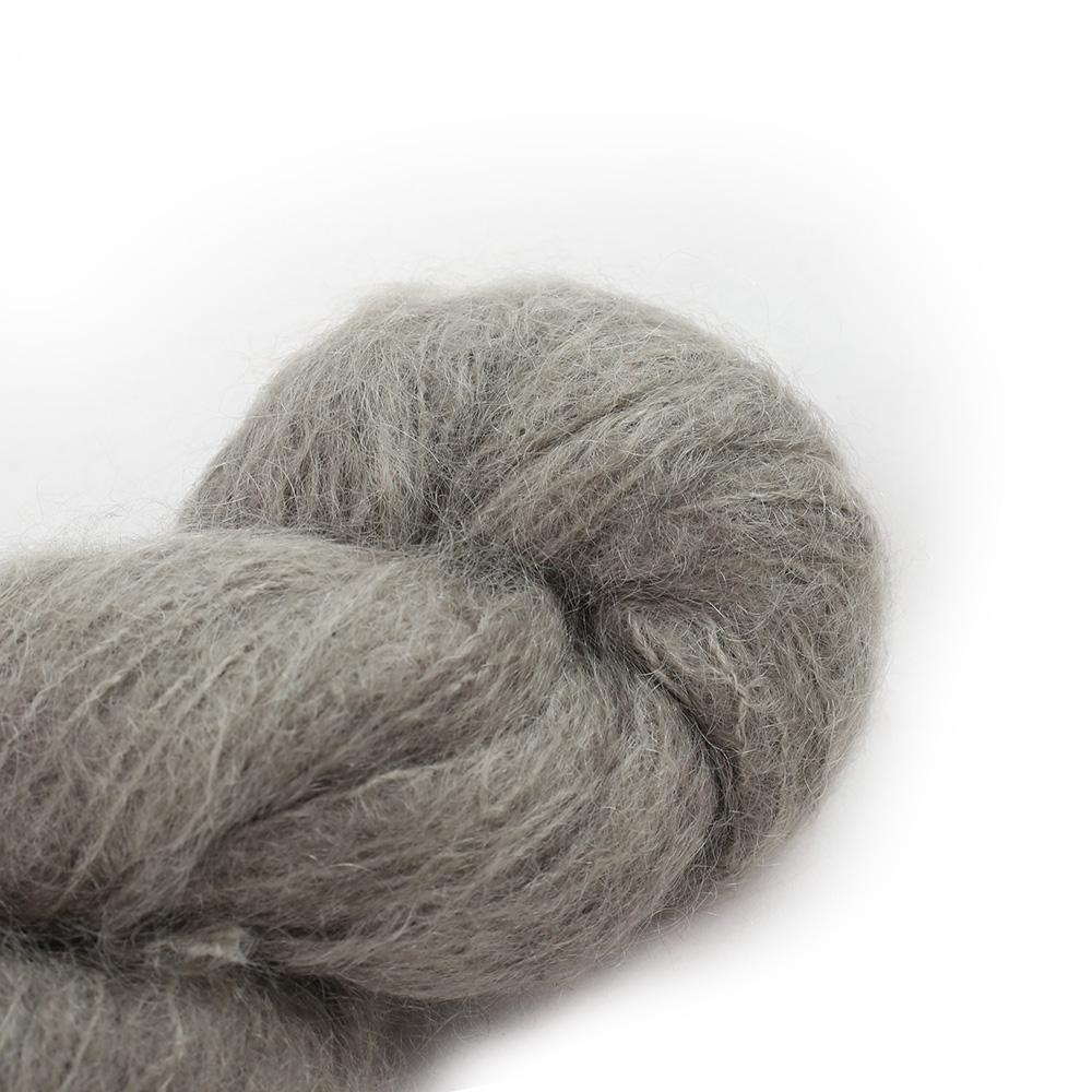 Cowgirl Blues Fluffy Mohair solids (100g) 38-Mushroom