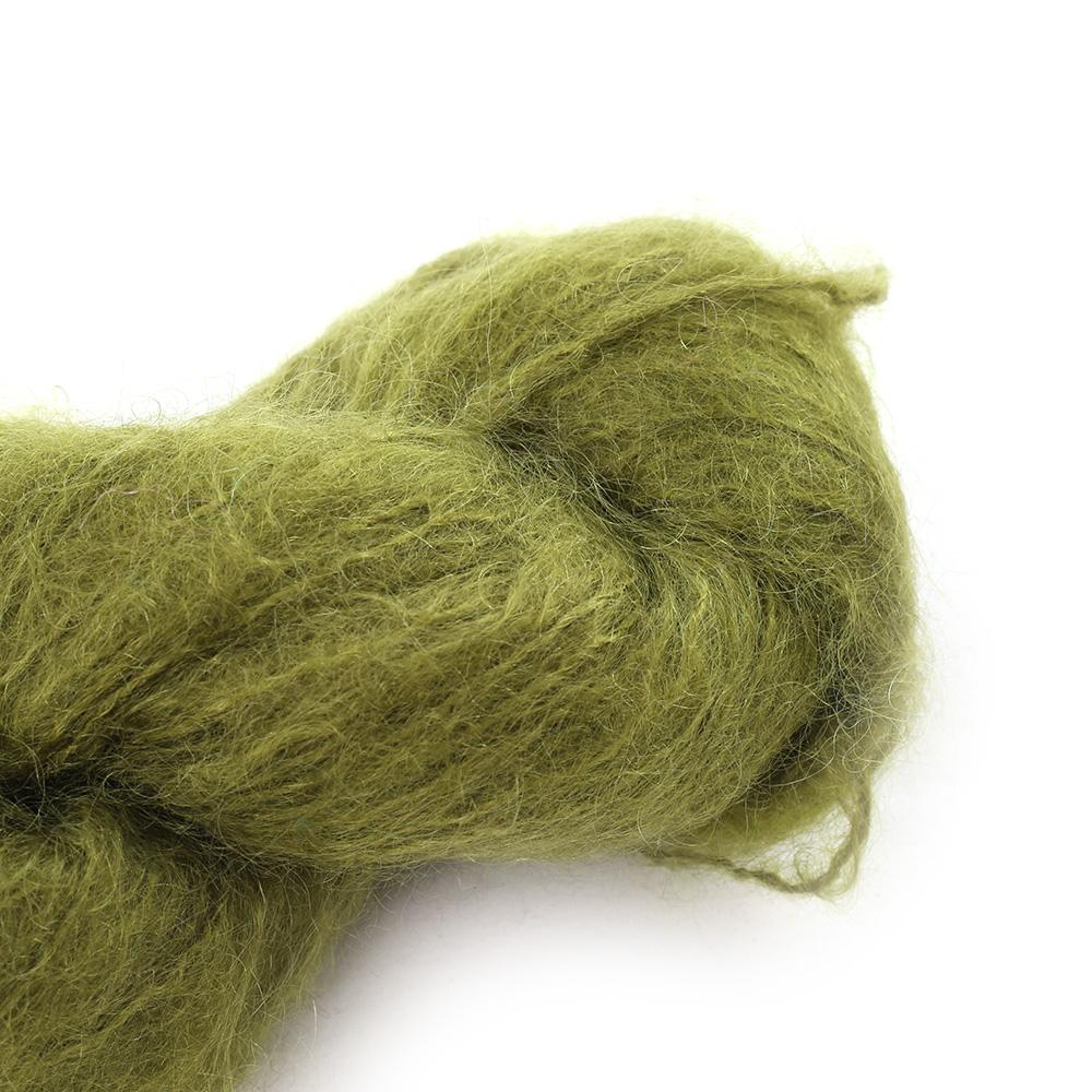 Cowgirl Blues Fluffy Mohair solids (100g) 11-Olive