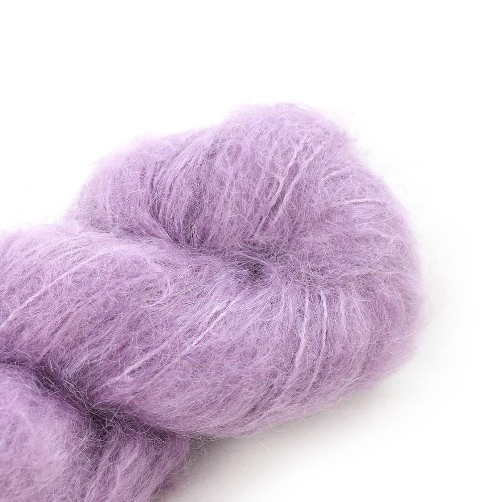 Cowgirl Blues Fluffy Mohair solids (100g) 33-Orchid Blush