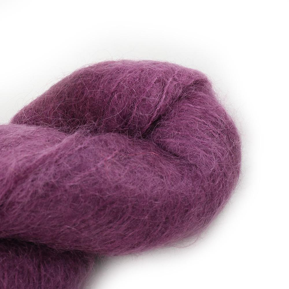 Cowgirl Blues Fluffy Mohair solids (100g) 34-Plum