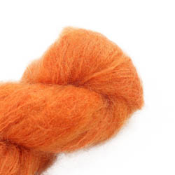 Cowgirl Blues Fluffy Mohair solids 42-Carrot Juice