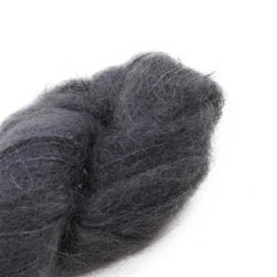 Cowgirl Blues Fluffy Mohair solids 02-Charcoal