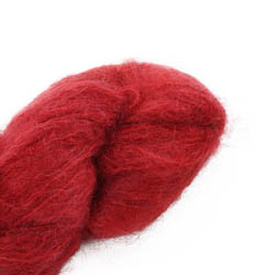 Cowgirl Blues Fluffy Mohair solids 40-Chili Pepper