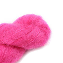 Cowgirl Blues Fluffy Mohair solids 32-Hot Pink