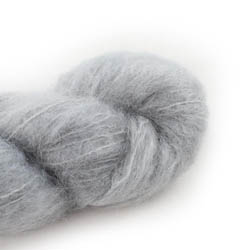 Cowgirl Blues Fluffy Mohair solids 03-Silver Fox