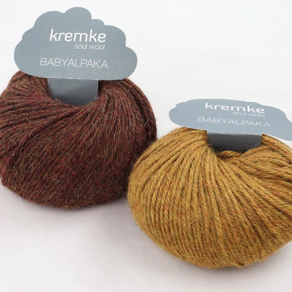 Kremke Soul Wool Babyalpaka Kit Loop Kastanie