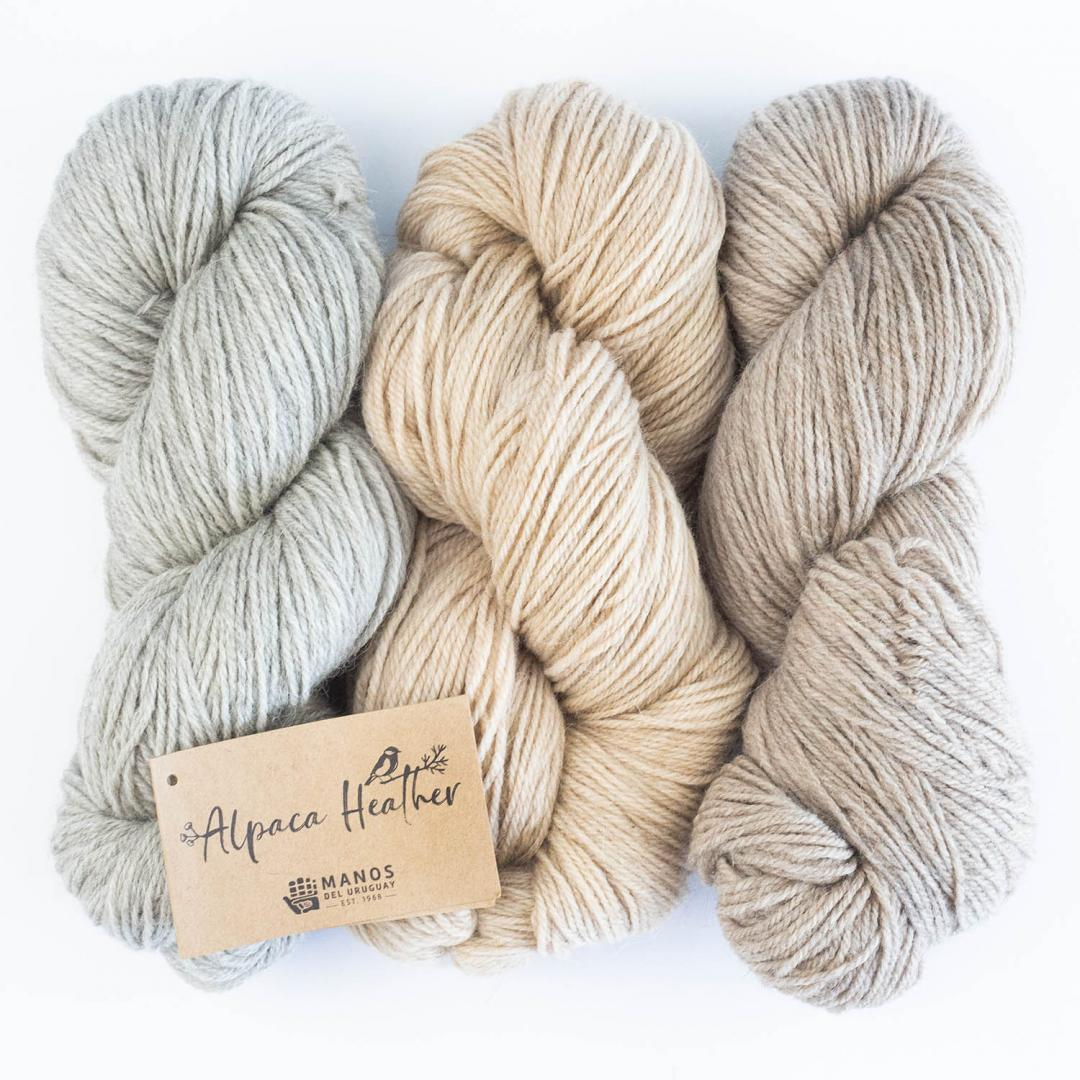 Manos del Uruguay Alpaca Heather Naturals 100g  Grey