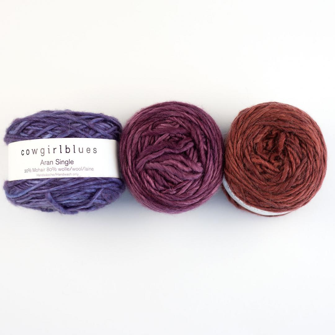 Cowgirl Blues Aran Single solids Auslauffarben  Coffee Bean