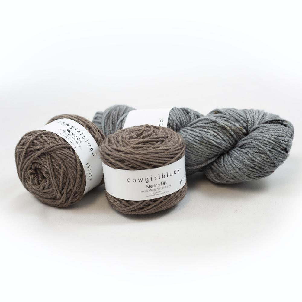 Cowgirl Blues Merino DK Garnpaket 200g  Smoke and Cocoa