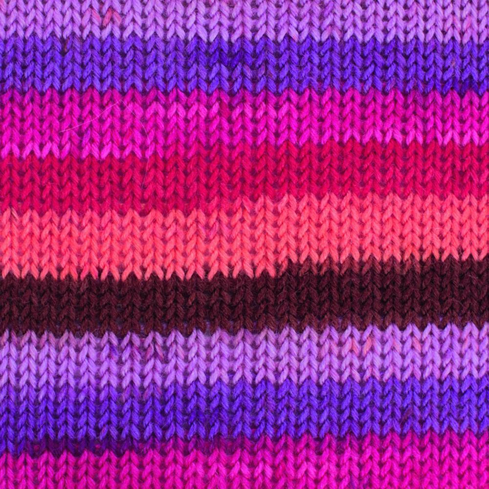 Kremke Soul Wool Edelweiss 4fach 50 Rosarot Streifen