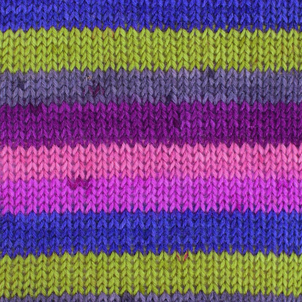Kremke Soul Wool Edelweiss 4fach 50 Rosa Messing Streifen