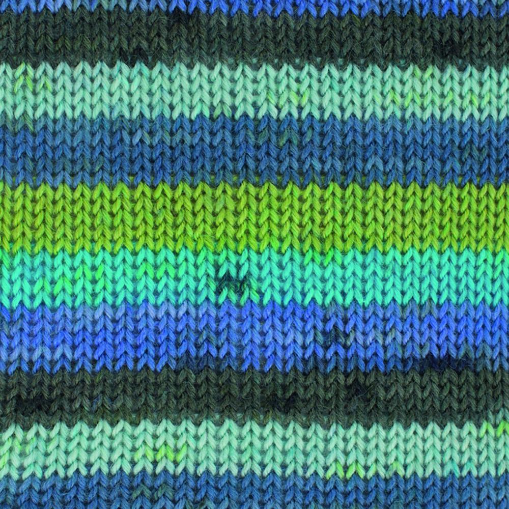 Kremke Soul Wool Edelweiss 4fach 50 Grün Türkis Streifen