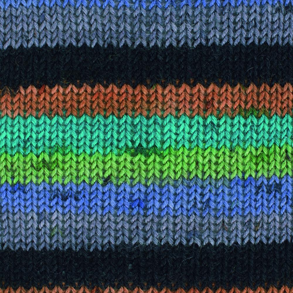 Kremke Soul Wool Edelweiss 4fach 50 Lilagrün Streifen