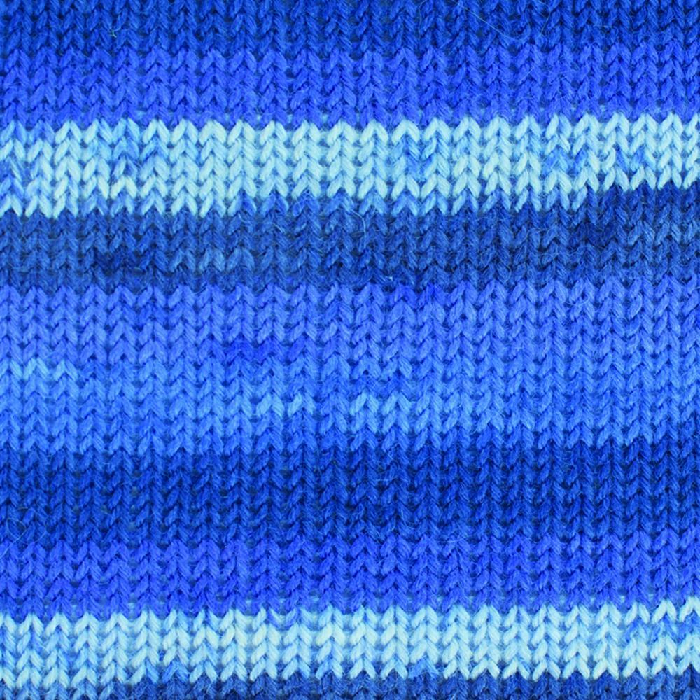 Kremke Soul Wool Edelweiss 4fach 50 Blau Streifen