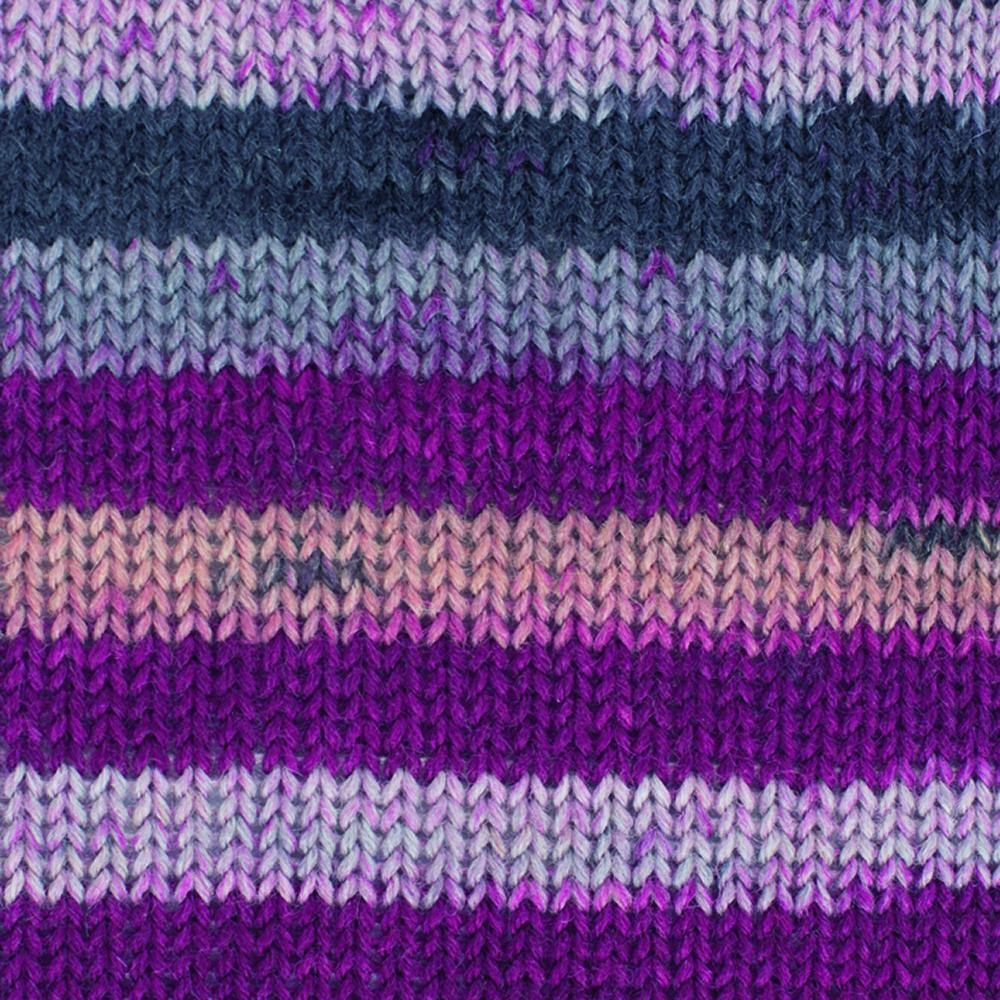 Kremke Soul Wool Edelweiss 4fach 50 Heide Streifen