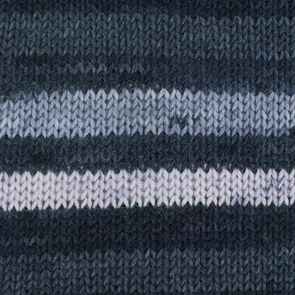 Kremke Soul Wool Edelweiss 4fach 50 Grau Streifen