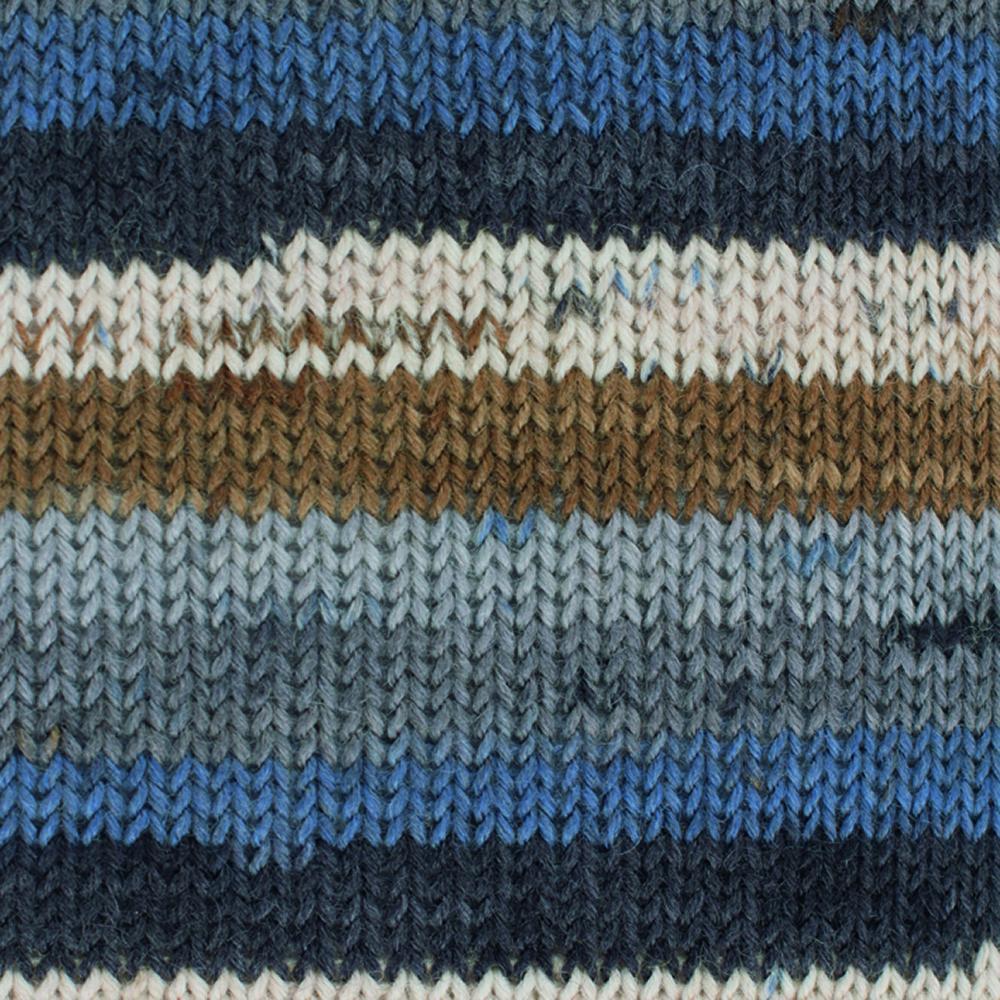 Kremke Soul Wool Edelweiss 4fach 50 Schilf Streifen