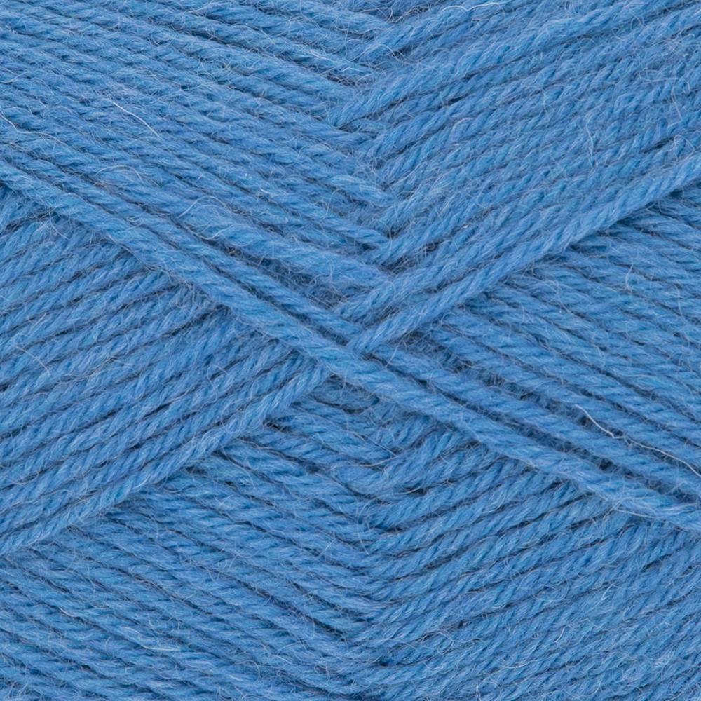 Kremke Soul Wool Edelweiss 4fach 50 Mittelblau uni