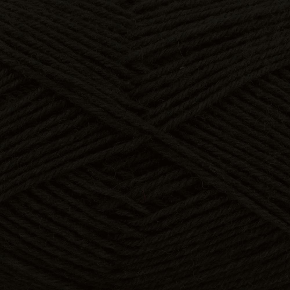 Kremke Soul Wool Edelweiss 4fach 50 Schwarz uni