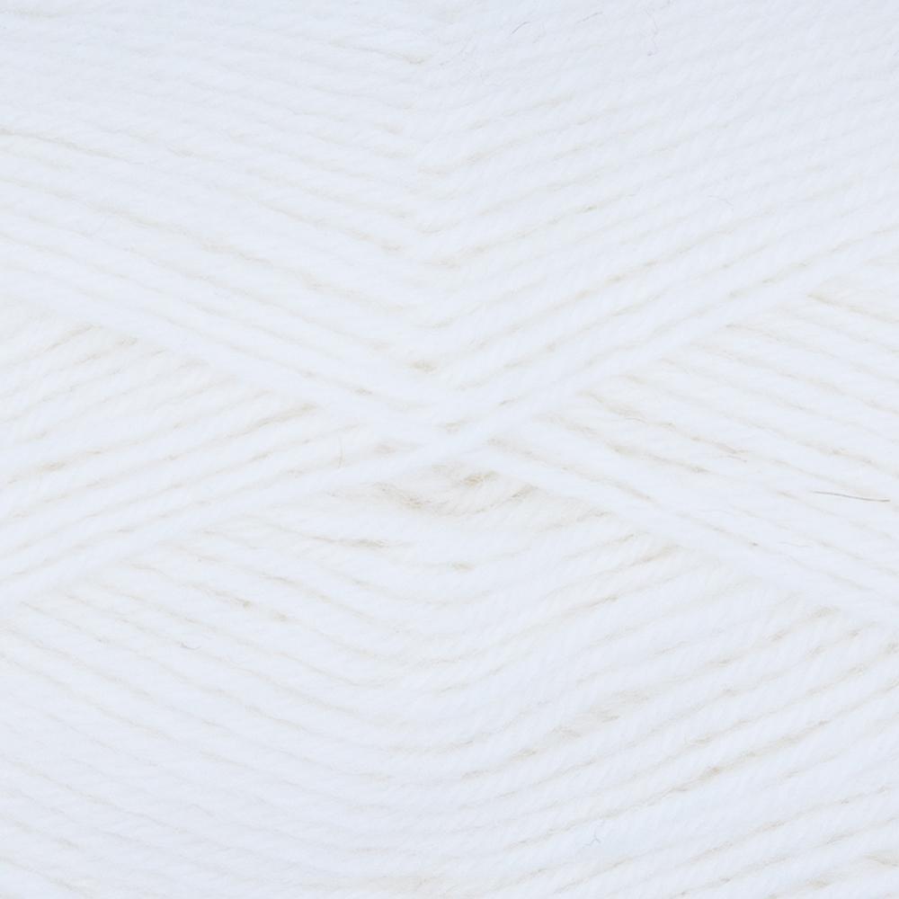 Kremke Soul Wool Edelweiss 4fach 50 Weiß uni