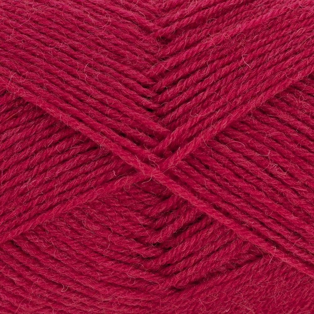 Kremke Soul Wool Edelweiss 4fach 50 Kirschrot uni