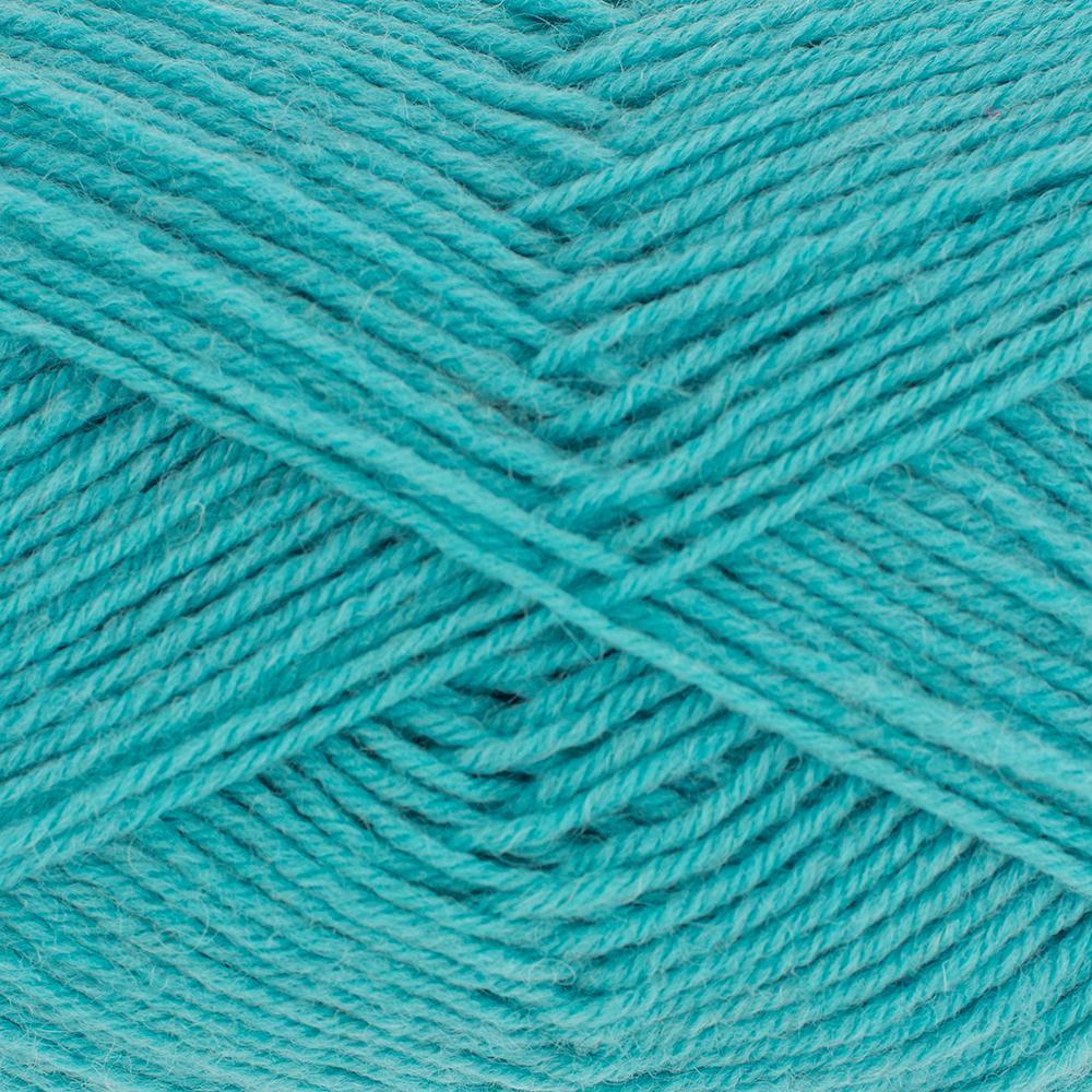Kremke Soul Wool Edelweiss 4fach 50 Türkis uni