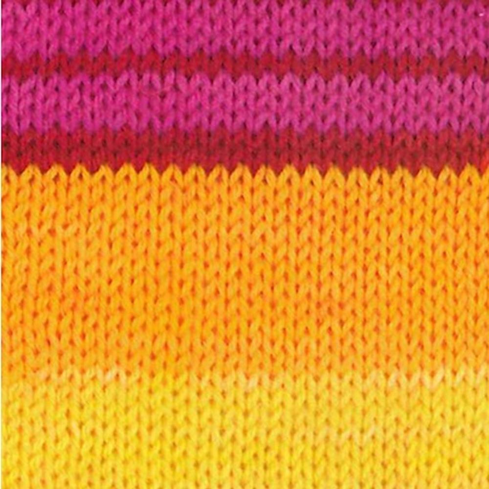 Kremke Soul Wool Edelweiss 4fach 100  Gelb Pink gestreift